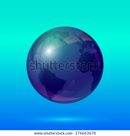 Planet Earth. Earth globe icon. Globe of the world. Vector illustration. - stock vector