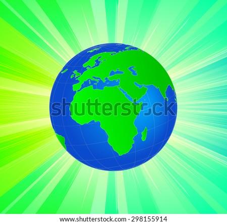 Planet Earth Globe - African/European Side - stock vector