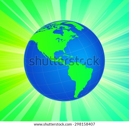 Planet Earth Globe with Inspirational Background