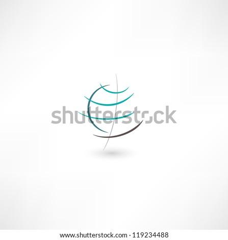 Planet Earth Icon - stock vector