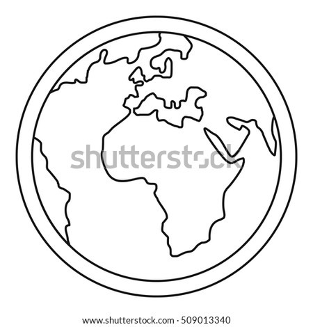 Planet Earth icon. Outline illustration of planet Earth vector icon for web