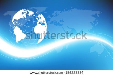 Planet earth informational stream. Vector illustration. Clip-art - stock vector
