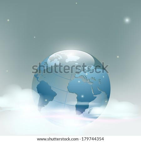 Planet Earth is covered by clouds - stock vector