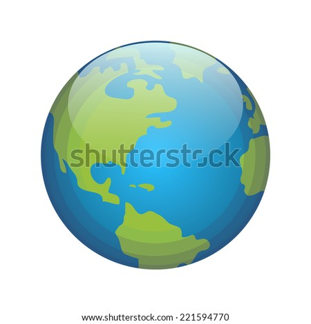 Planet Earth isolated on white - stock vector