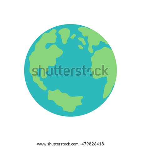 planet earth map globe illustration icon vector.