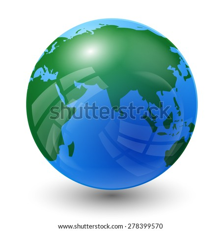 planet earth map - Indian Ocean view