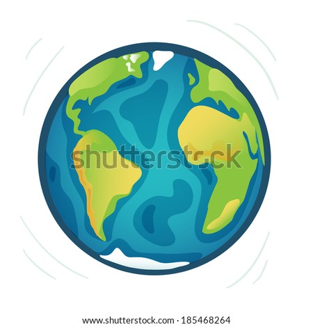 Planet earth or world eco model in vector - stock vector