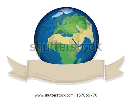 Planet earth, vector illustration - stock vector