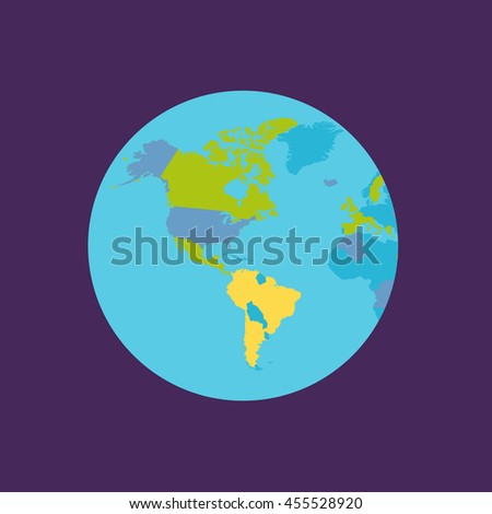 Planet Earth vector illustration. World Globe with political map - stock vector