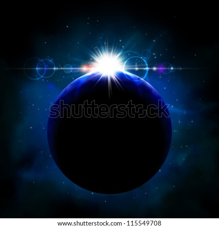 Planet from space. Eps 10 - stock vector