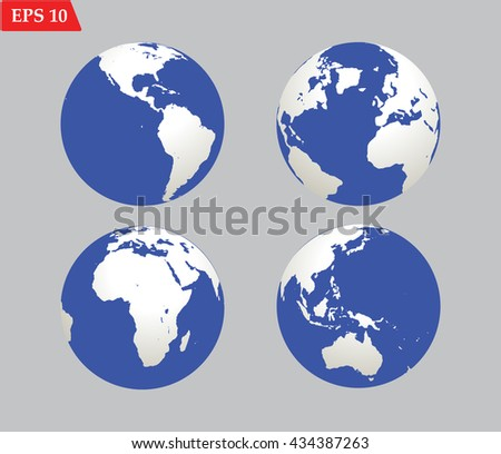 Planet globe Earth icon.Vector illustration