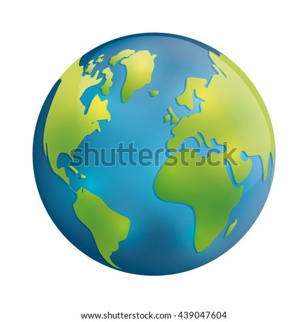 Planet icon. Earth sphere design. vector graphic - stock vector