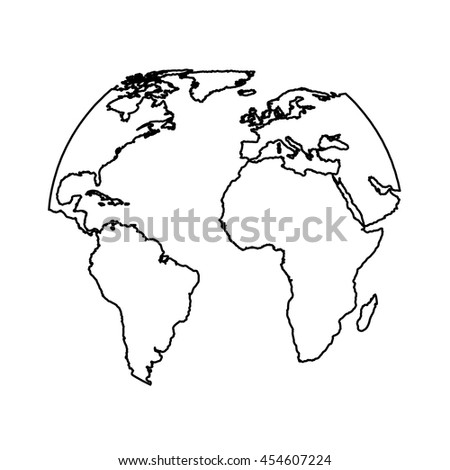planet, map,  isolated lineal vector  eps10 illustration