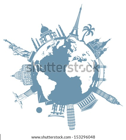 Planet of travel - stock vector