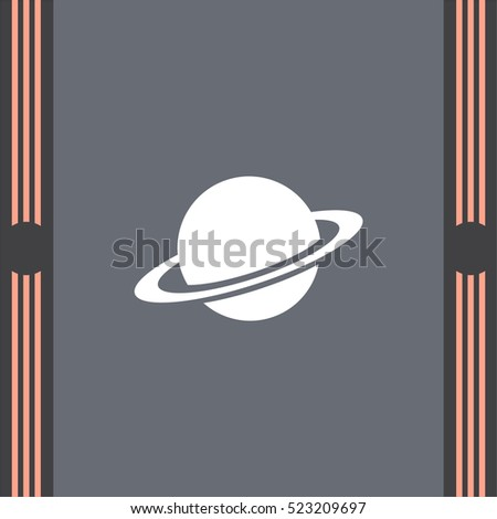 Planet vector icon. Globe sign. Saturn symbol