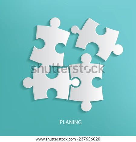 Planing symbol on blue background,clean vector - stock vector