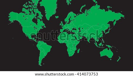 Planisphere vector world map green on vectores en stock 414073753 planisphere vector world map green on black alpha background gumiabroncs Choice Image