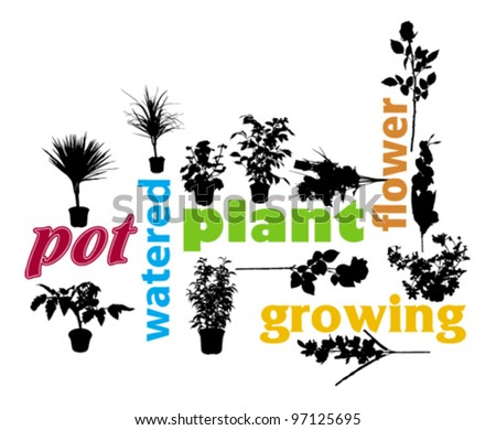 plant and flower design - stock vector