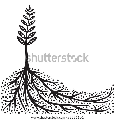 Plant and Roots Background (vector). In the gallery also available XXL jpeg version of this image.