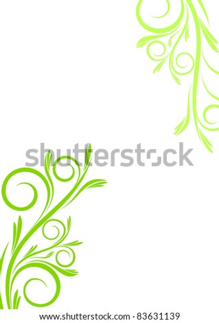Plant composition on white background - stock vector