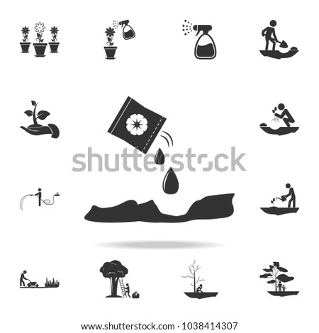 plant in hands icon. Detailed set of garden tools and agriculture icons. Premium quality graphic design. One of the collection icons for websites, web design, mobile app on white background