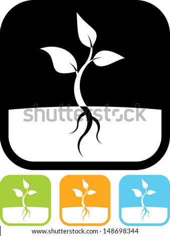 Plant sprout vector icon  - stock vector
