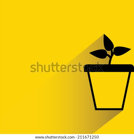 plant, tree pot - stock vector