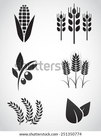 Plantation icon set. Vector illustration. - stock vector