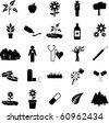 plants and medicine symbol set - stock vector