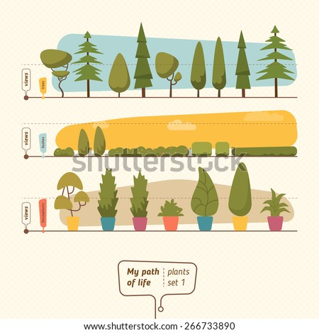 Plants collection vector illustration - stock vector