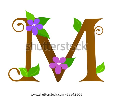 Fancy Letter m Font Plants Font Type Letter m