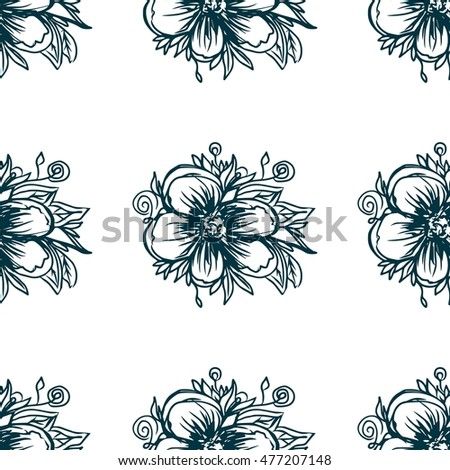 Plants seamless pattern. Floral background