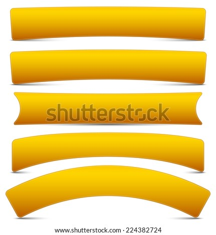 Plaques, empty billboards, banner or button shapes. vector. - stock vector