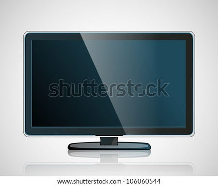 Plasma LED LCD (Vector Eps10) - stock vector