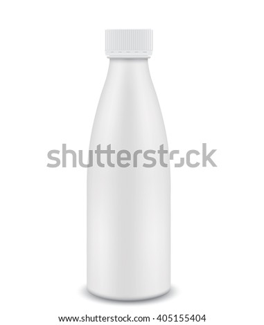 Plastic bottle closed. 3D - stock vector