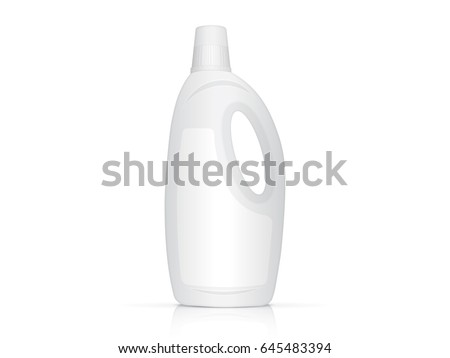 Plastic Bottle For Your Design And Logo Its Easy To Change Colors Mock Up