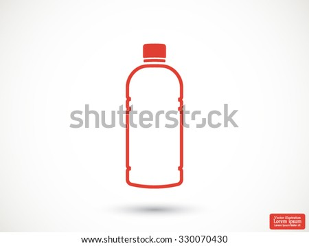 Plastic bottle. .vector icon 10 EPS
