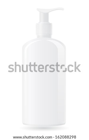 plastic bottle with a spray vector illustration isolated on white background - stock vector