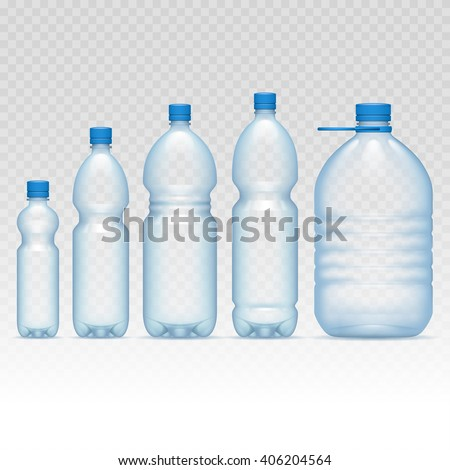 Plastic bottles set - stock vector