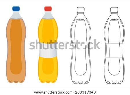 plastic bottles with carbonated water