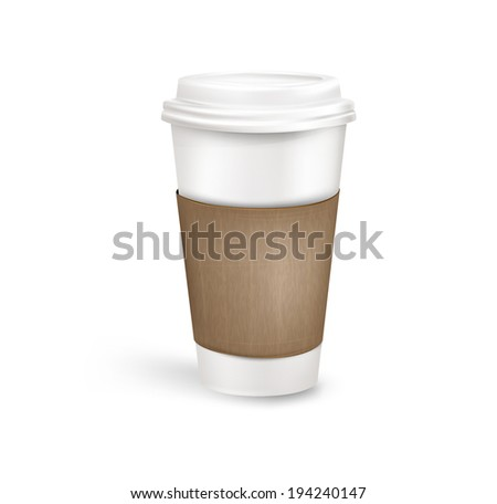 Plastic coffee cup. Vector eps 10