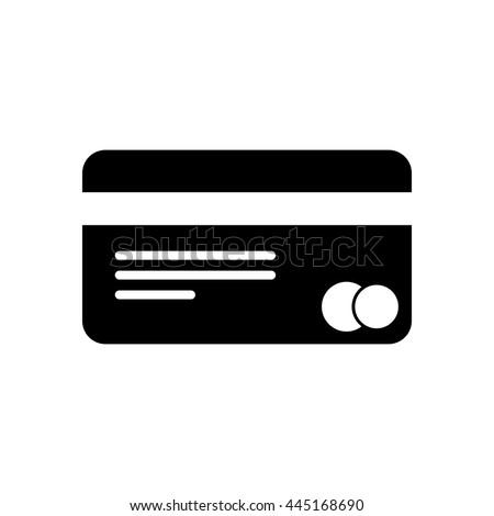 plastic credit card icon - stock vector