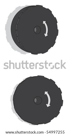 Plastic Door Handle - stock vector