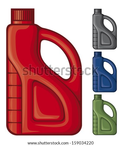plastic gallon (plastic canister of gasoline) - stock vector
