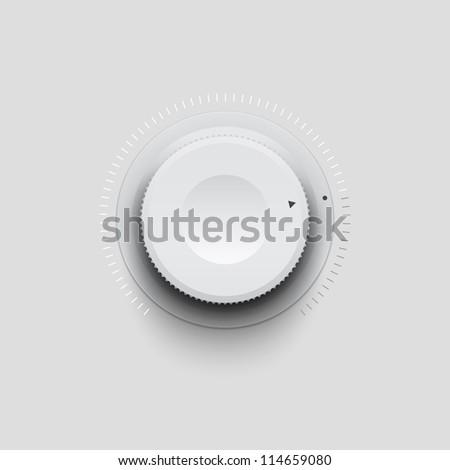 Plastic knob - stock vector