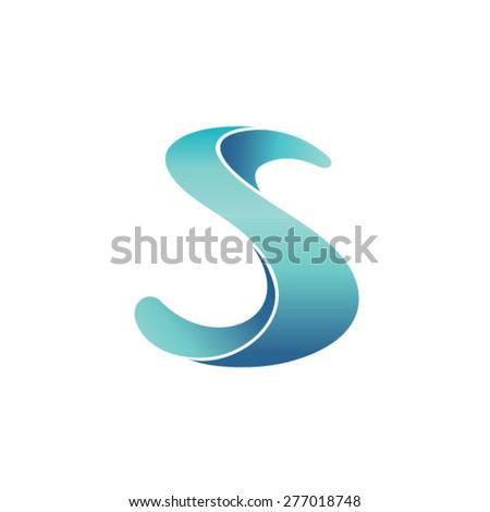 Plastic letter S logo concept - stock vector