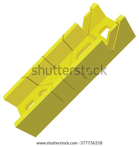 Plastic miter box for industrial work. Vector illustration. - stock vector