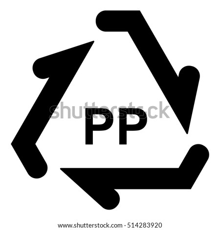 Plastic Recycle Symbol Pp Plastic Recycling Stockvector 514283920