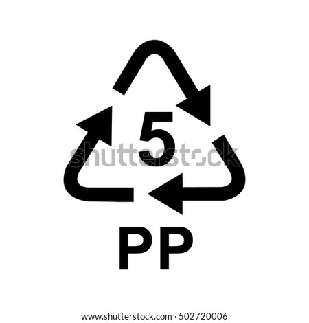 Plastic Recycling Symbol Stock Vector 502720006 Shutterstock