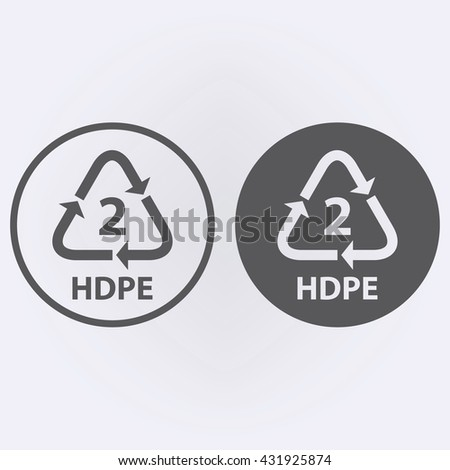 Plastic recycling symbol HDPE 2 . Vector illustration - stock vector